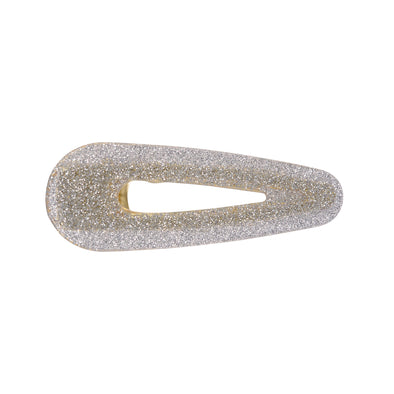 Georgie Silver Glitter Hair Clamp