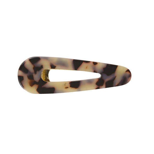 Cream/Caramel tortoiseshell colour triangular hair clamp