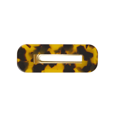 Tortoiseshell colour rectangle hair clamp