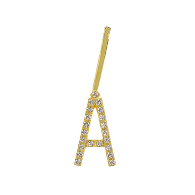 Initial Letter A Bobby Pin (Gold Colour)