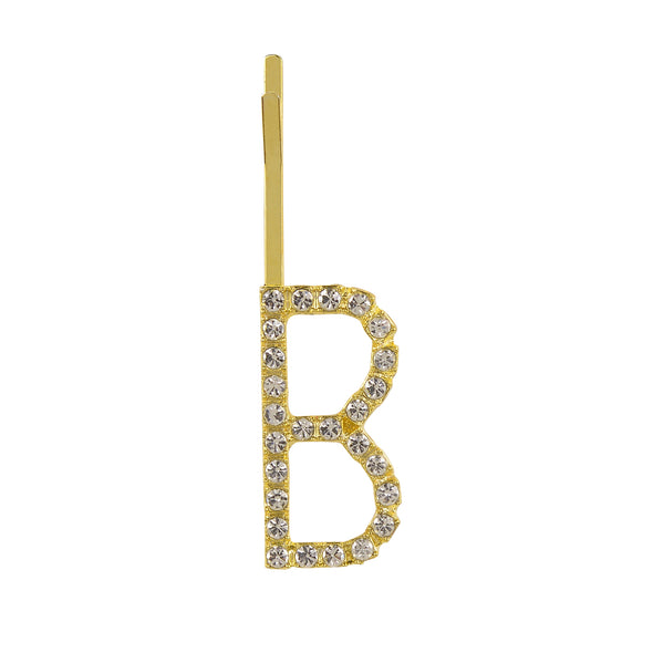Initial B - gold toned bobby pin