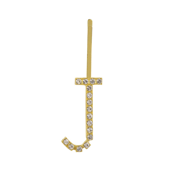 Initial Letter J Bobby Pin (Gold Colour)