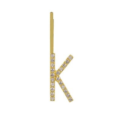 Initial K - gold toned bobby pin