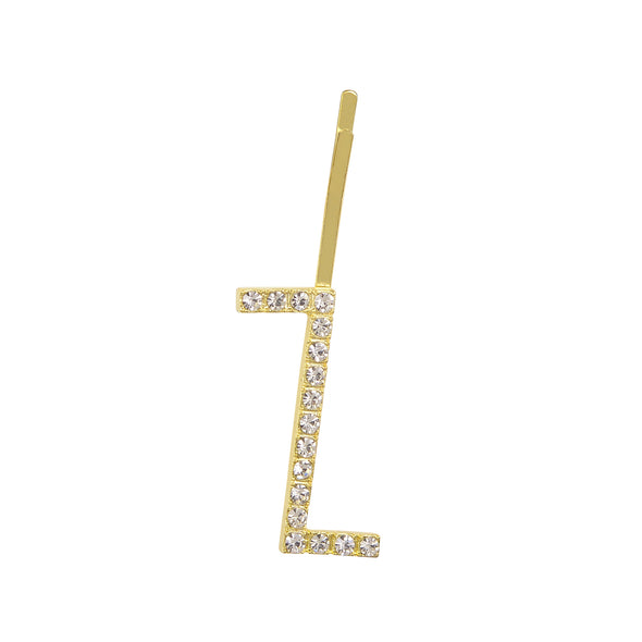 Initial Z - gold toned bobby pin