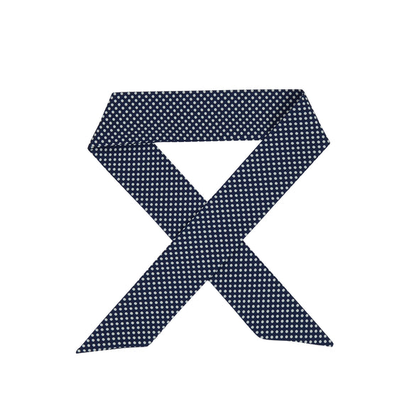 Abi Navy & White Mini Spot Hair Scarf