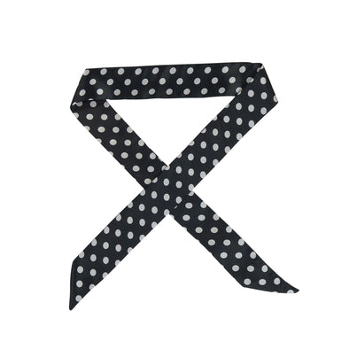 Gorgeous black with white spots hair scarf