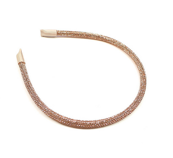 Sparkly Gold Headband, perfect for any look.  Dimensions: 6mm wide.  One size fits all!