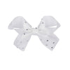 White Diamonte Hair Bow