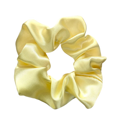 Scrunchies are back and they're here to stay! These stunning scrunchies look great in your hair and also work as gorgeous accessories.  Colour/Pattern: Lemon yellow Material: Satin  Washing instructions: Cold hand wash  Dimensions: Material width approximately 5 cm  Made by us in Bondi Beach  With love from Larzy xx