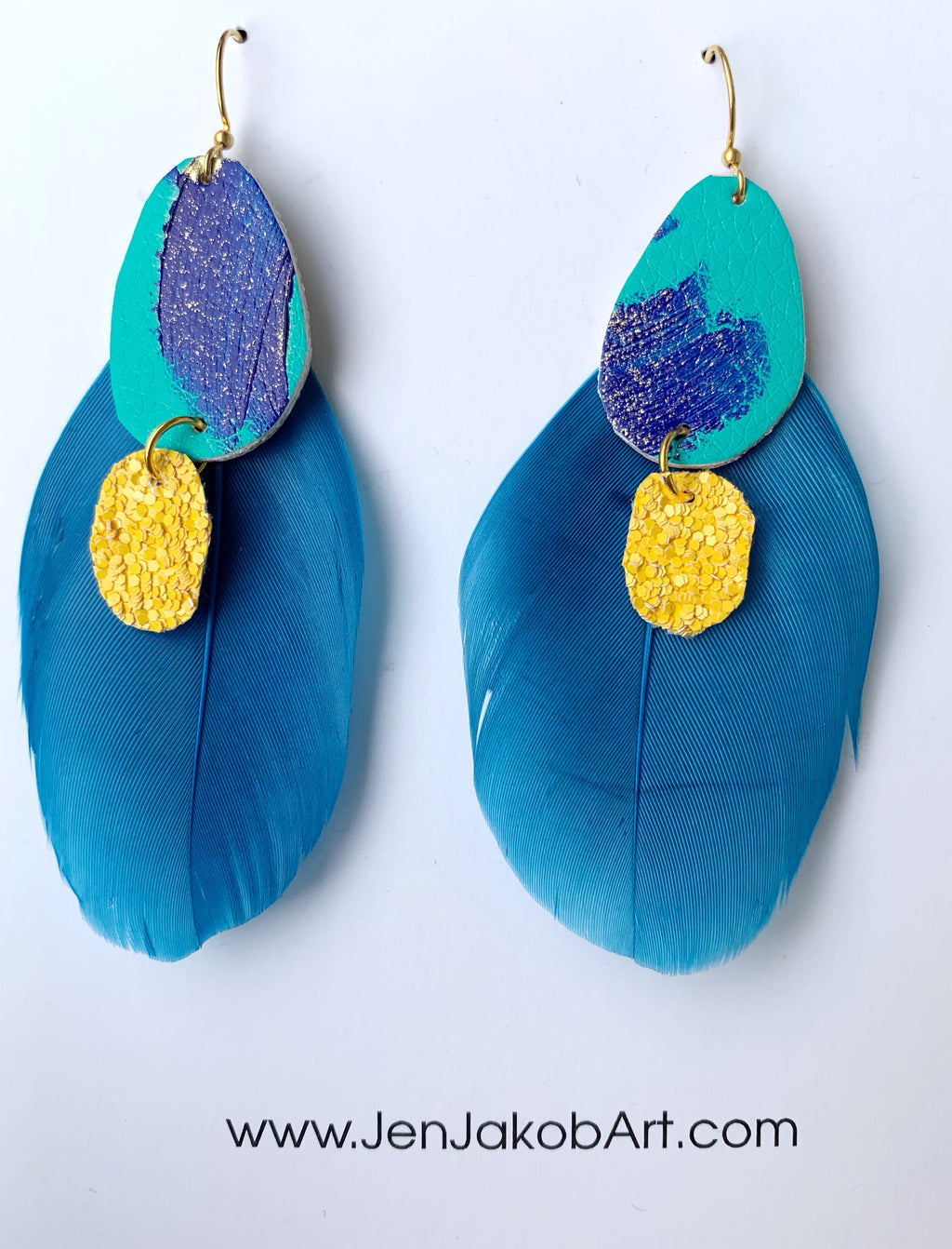 Feather Earrings #14