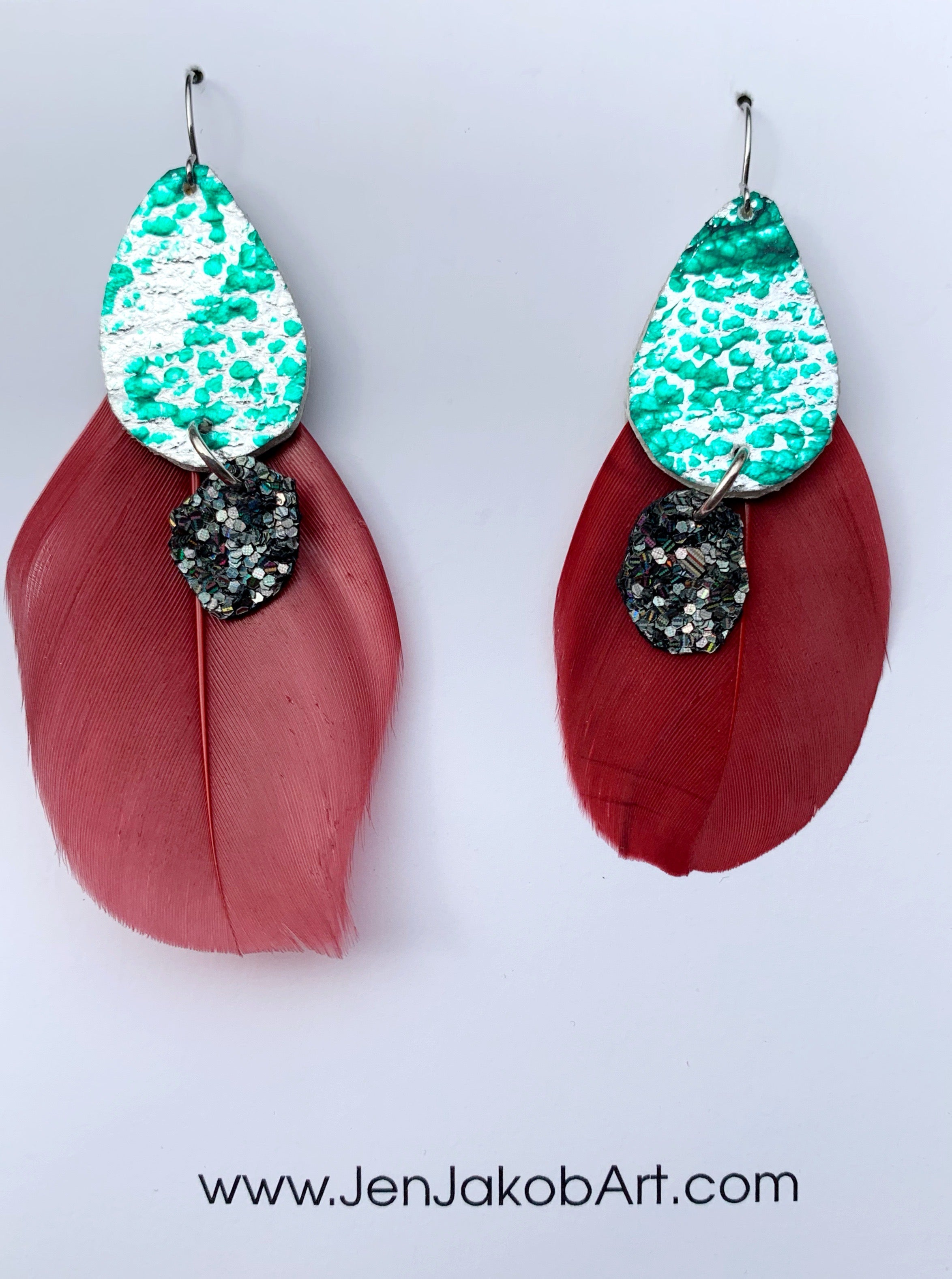 Feather Earrings #4