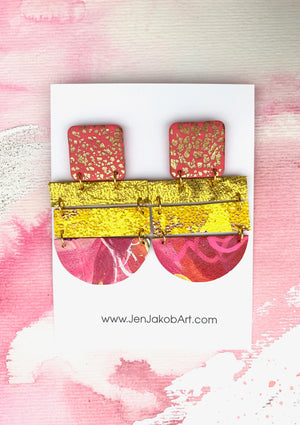 Large 4-Tier Statement Earrings #1
