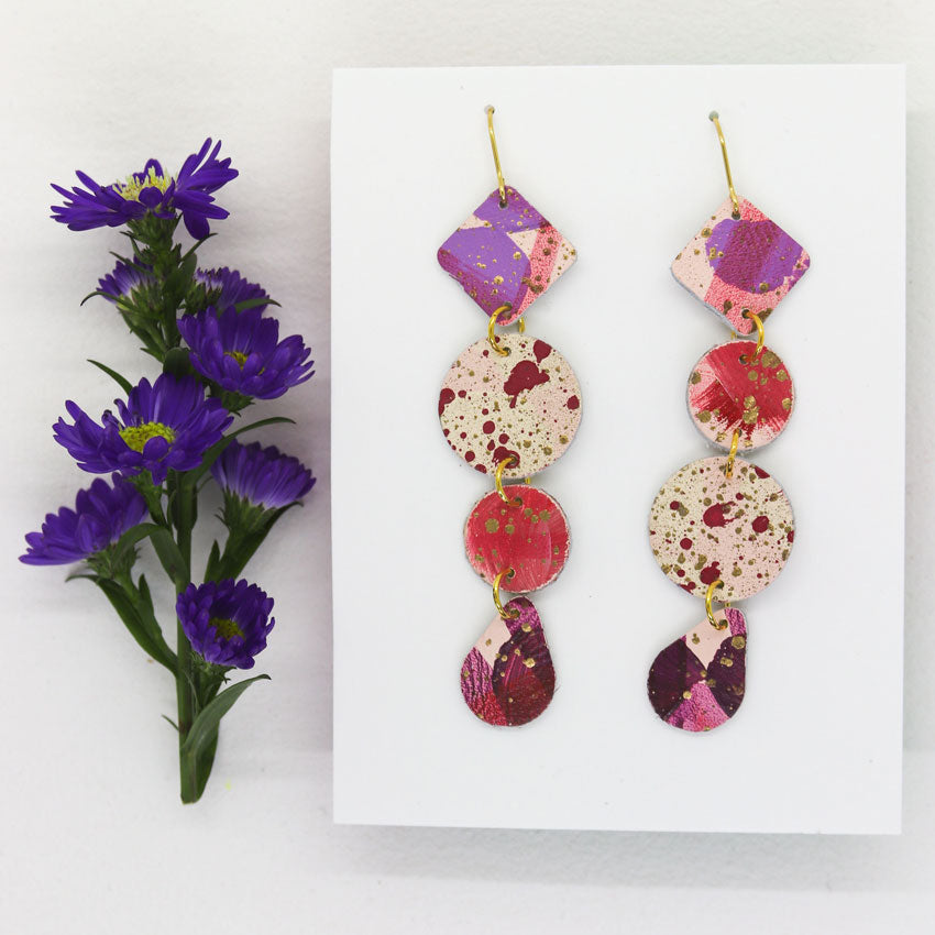 Long 4-Tier Statement Earrings #2