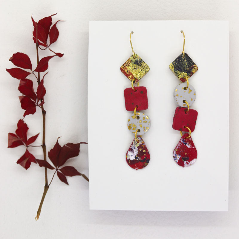 Small 4-Tier Statement Earrings #5