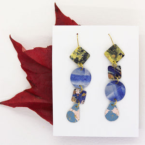Long 4-Tier Statement Earrings #7
