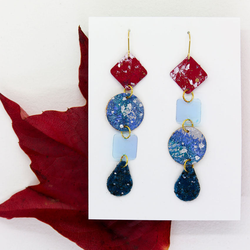 Long 4-Tier Statement Earrings #6