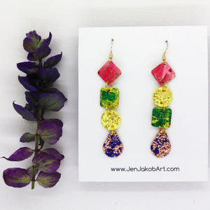 Small 4-Tier Statement Earrings #8