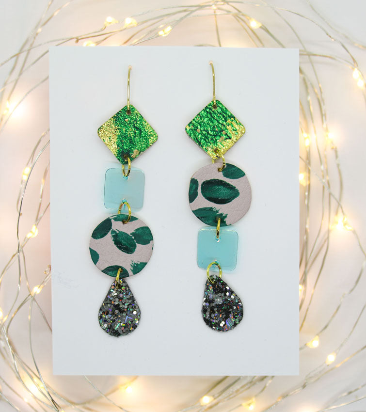 Long 4-Tier Statement Earrings #5
