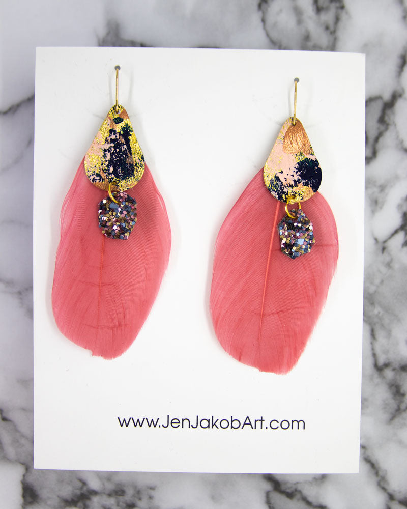 Feather Earrings #8