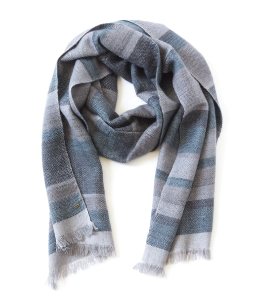 KOSA STRIPED NARROW SCARF