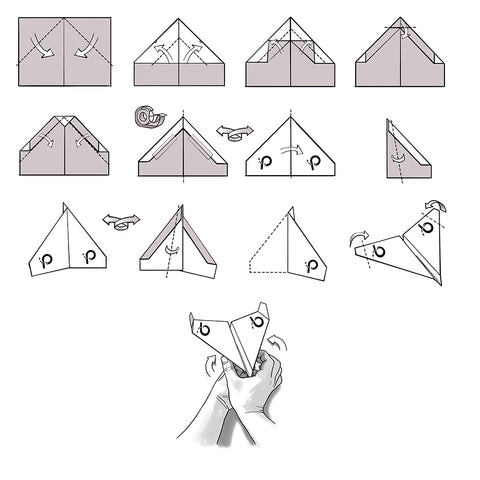 photograph regarding Printable Paper Airplane Instructions identified as Invader Template - PowerUp Toys