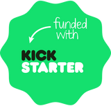 Funded with Kickstarter badge POWERUP FPV