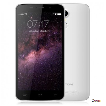 Zoom Homtom HT17 4G LTE Smartphone MTK6737 Android 6.0 1GB 8GB 5.5 inch 13MP Camera White