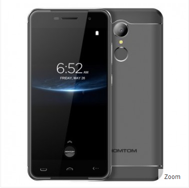 HOMTOM HT37 Pro 3GB 32GB 4G LTE MediaTek MT6737 Smartphone Android 7.0 5.0 inch 13MP rear Camera Hot Knot Fingerprint Grey