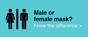 Male or female mask? Know the difference.