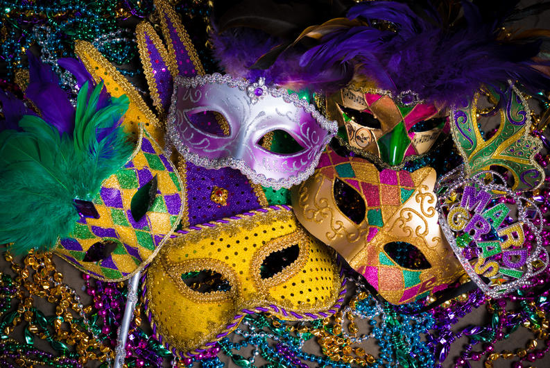 New orleans mardi gras guide vivo masks for Craft store new orleans
