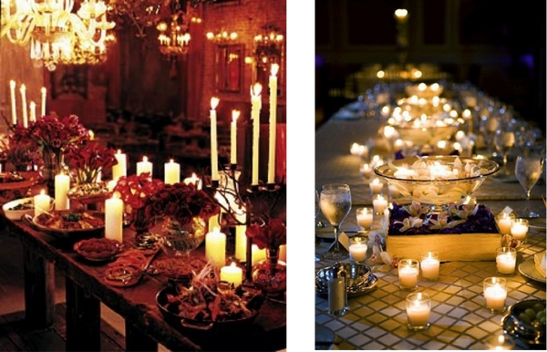Use Candles In Hurricane Glasses Tea Lights Candelabras And Even Fairy To Create A Little Bit Of Mood Lighting On Your Tables