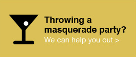 What supplies should you purchase for a masquerade party?