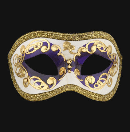 Colombina Occhi Purple Masquerade Mask
