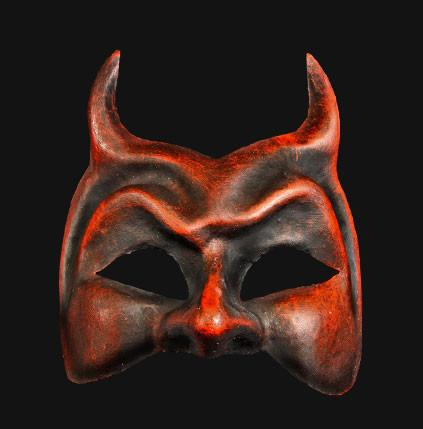Diavolo Red Devil Masquerade Mask