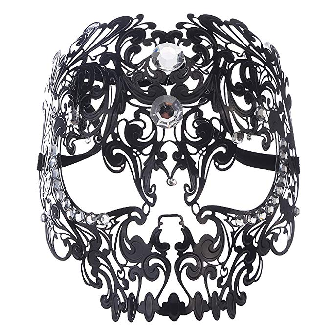 Teschio Black Masquerade Mask