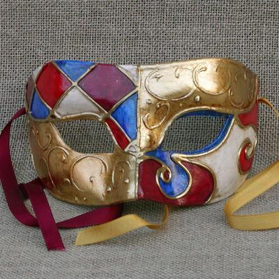 Colombina Harlequin Duo 5 Masquerade Mask