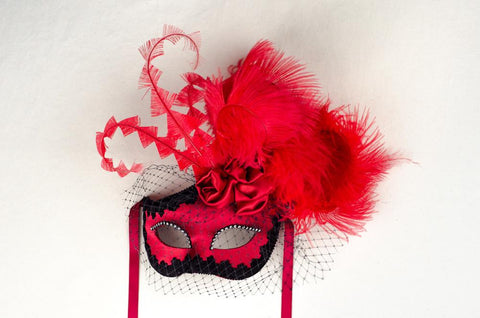 Dolce Rosa Vibrant Red Masquerade Mask