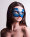 Colombina Blue Ink Masquerade Mask