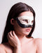 Colombina Contrast Black Ink Masquerade Mask