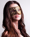 Colombina Mezza Black Masquerade Mask