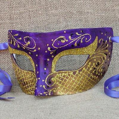 Colombina Heartbreaker Purple Masquerade Mask