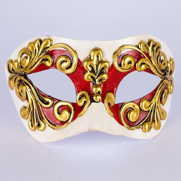 Colombina Occhi Red Masquerade Mask