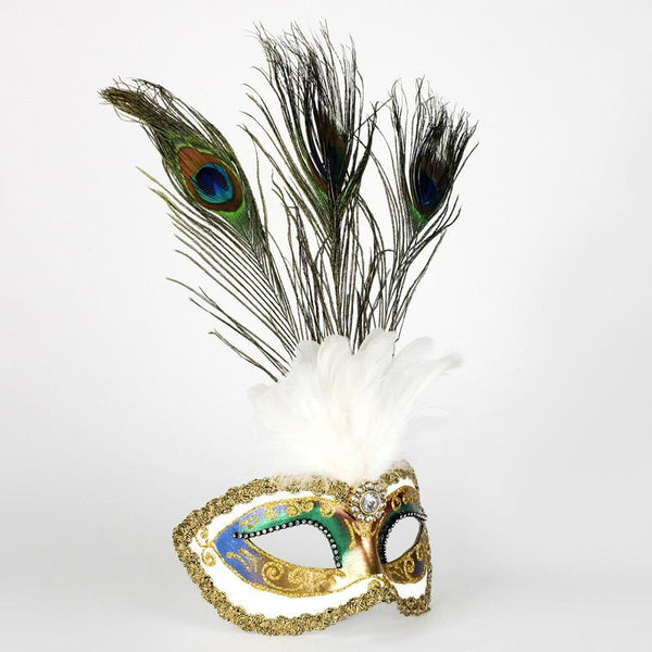Colombina Festa Strass Fantasia Peacock Feather