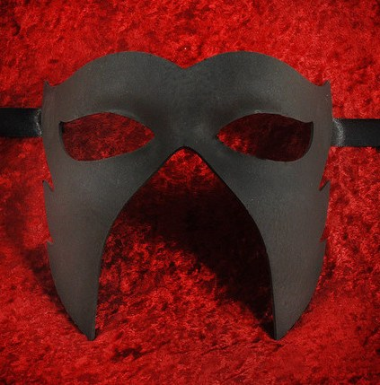 Black Caligola Masquerade Mask