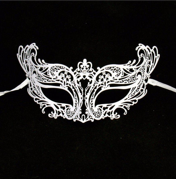 Catwoman White Masquerade Mask