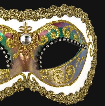 Colombina Arco Strass White Masquerade Mask