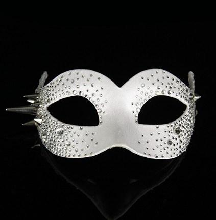 Colombina Bling White Masquerade Mask