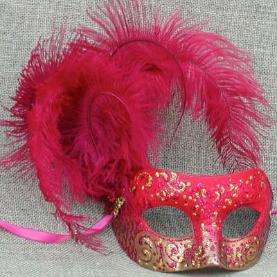 Colombina Cloud Cherry Red Masquerade Mask