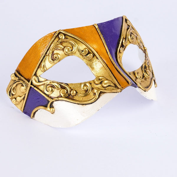 Colombina Duo Gold Masquerade Mask