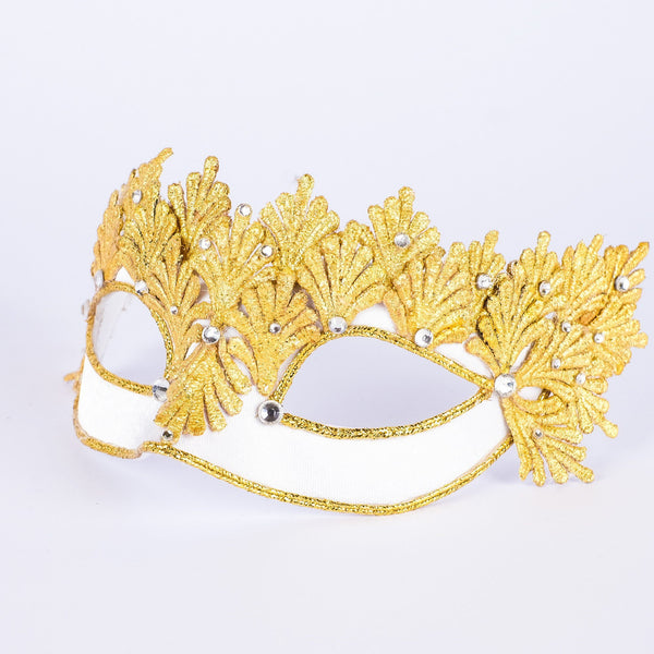 Colombina Fenice Gold White Masquerade Mask